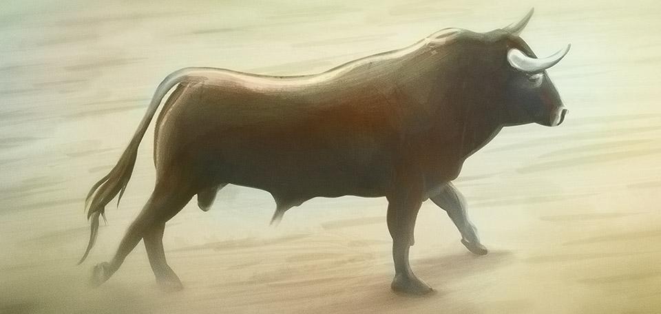 Strong Bull - Digital Art by Matthias Zegveld