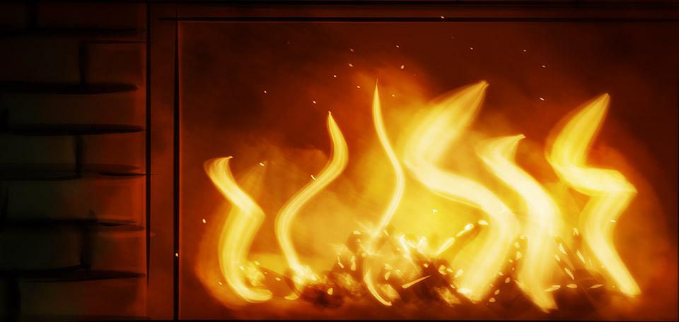 The Fireplace - Digital Art by Matthias Zegveld