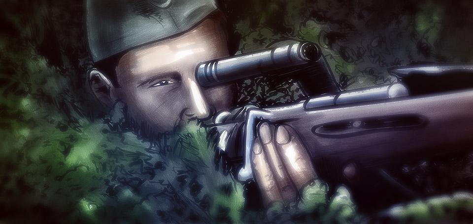 The Sniper - Digital Art by Matthias Zegveld