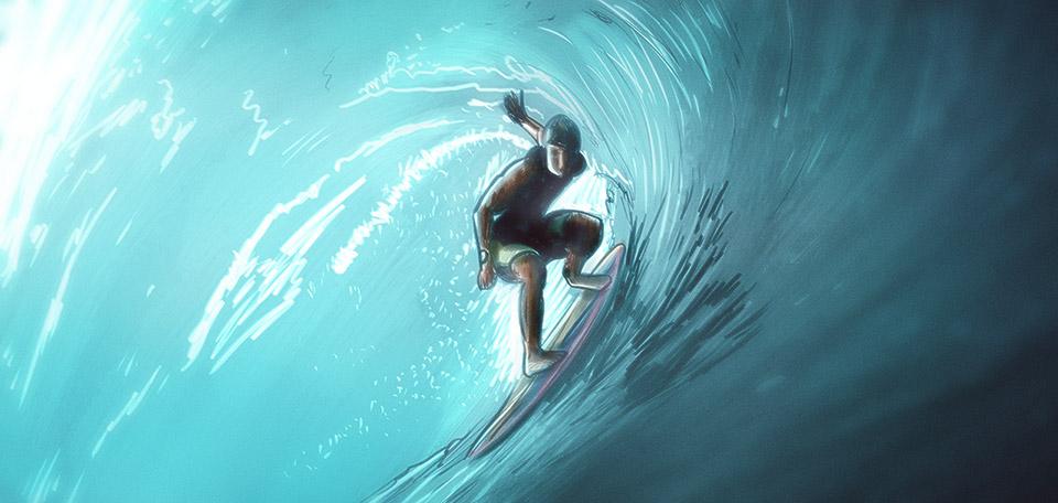 The Surfer - Digital Art by Matthias Zegveld