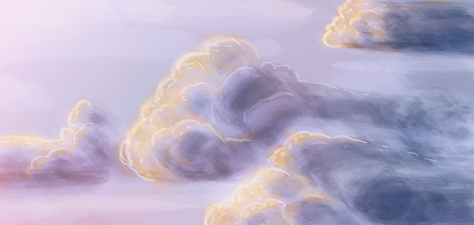 Inspired after seeing a beautiful Dutch sky on a nice evening, I created this Artwork. -- Traveling Clouds - Digital Art by Matthias Zegveld